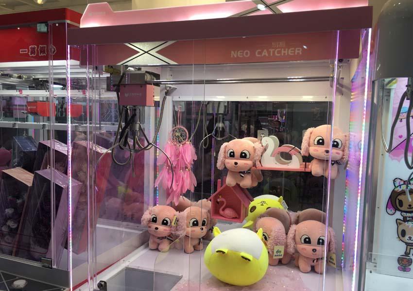 sweet catcher claw machine display 2