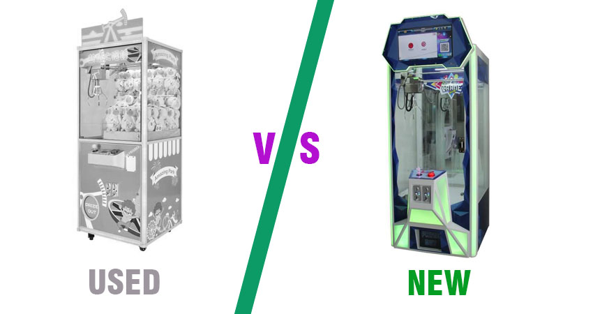 used claw machine for sale vs new