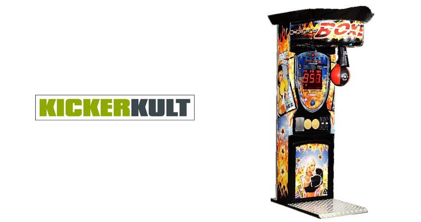 Kicker boxing arcade machine