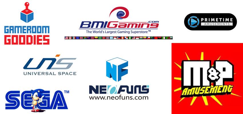 basketball arcade machine supplier brand logo