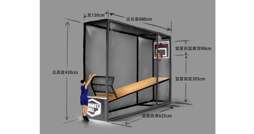 basketball arcade machine size wiki