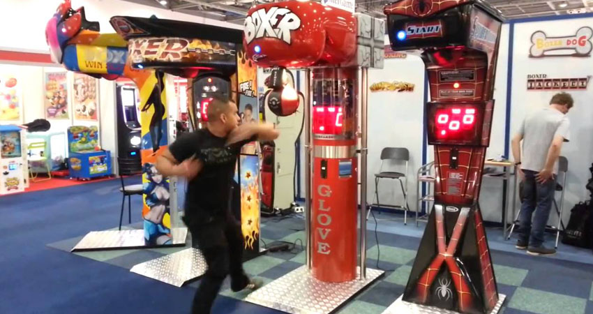 Liberty Games' boxing arcade machine