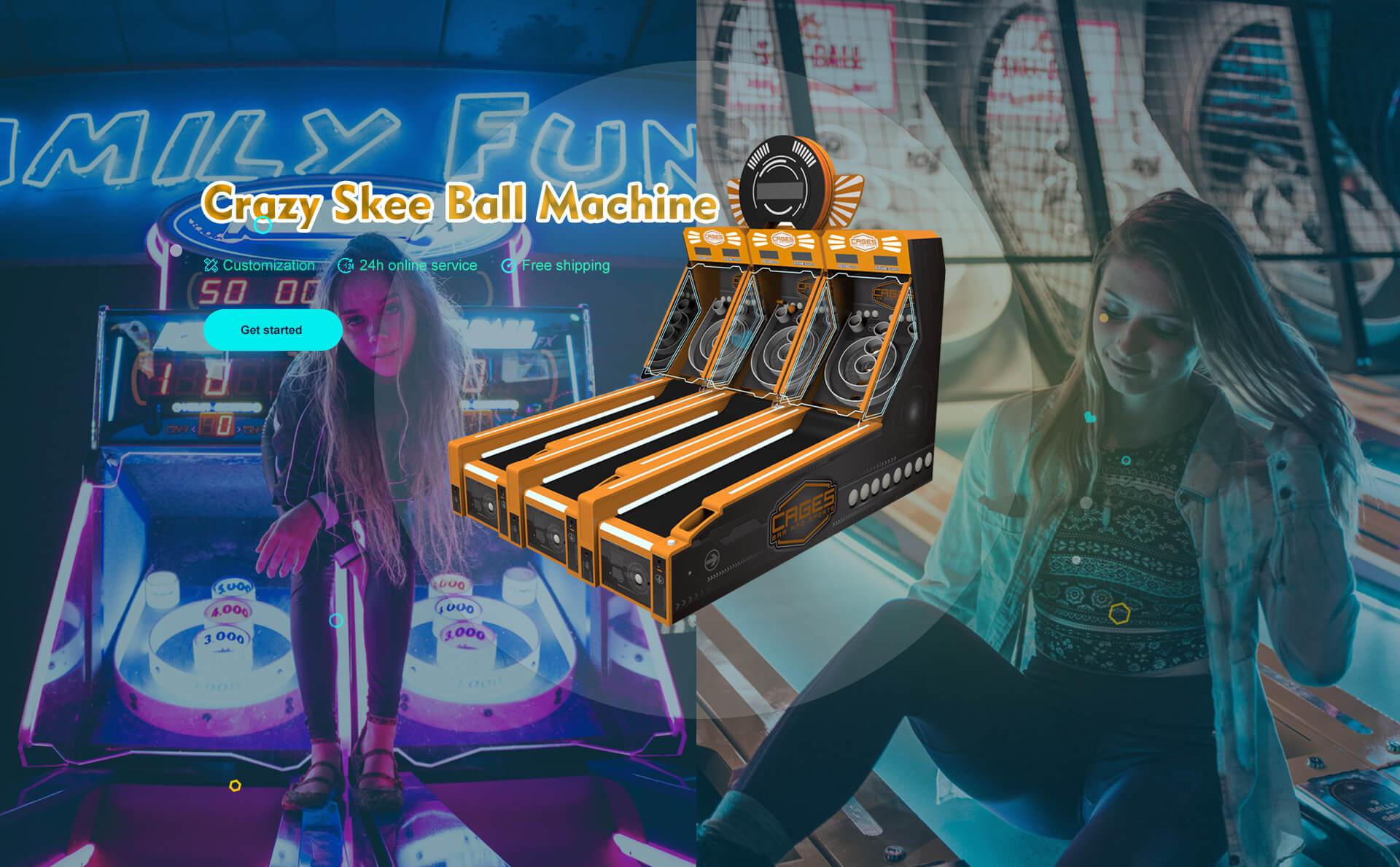 Crazy Skee Ball Machine